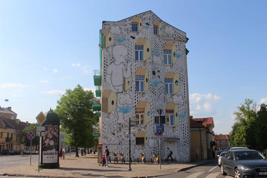 Millo street art Vilnius