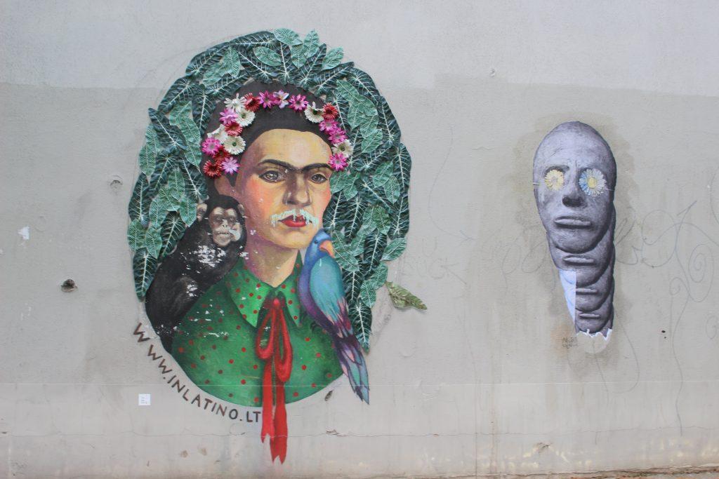 Street art Frida Vilnius