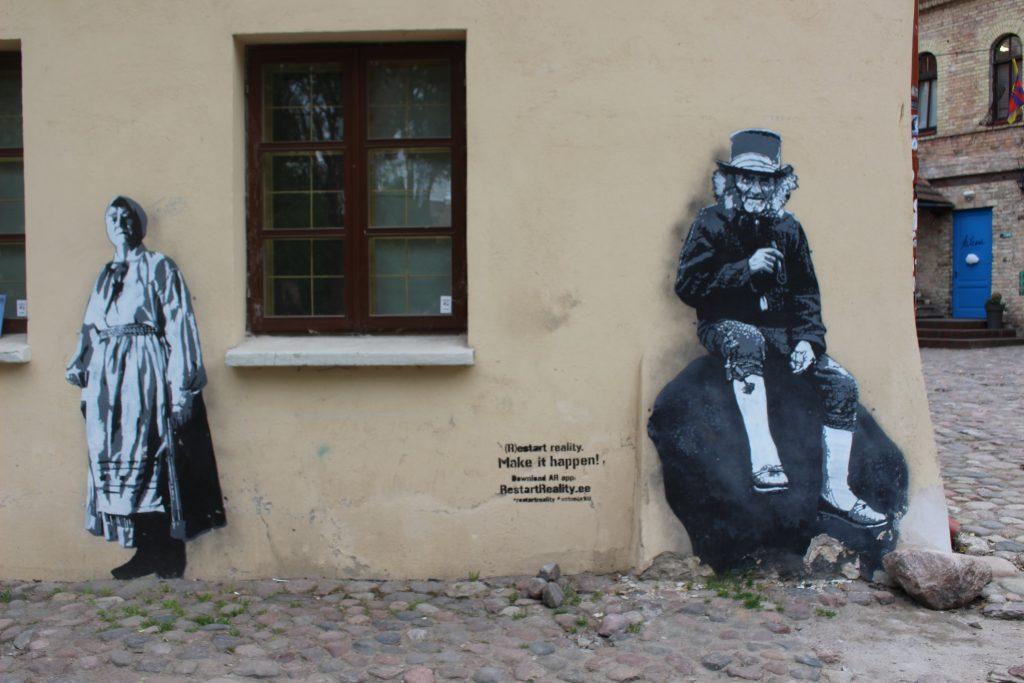 Street art Restart Reality Vilnius