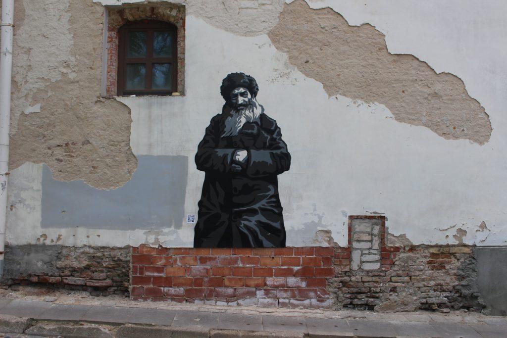 Street art wall that remember vilnius