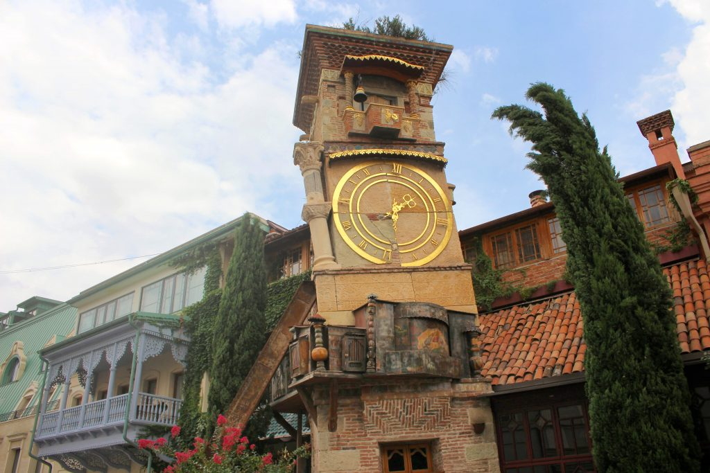 Tbilisi things to do Leaning Clock Tower